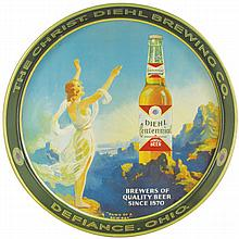 The Christ.  Diehl Brewing Co. Tin Serving Tray