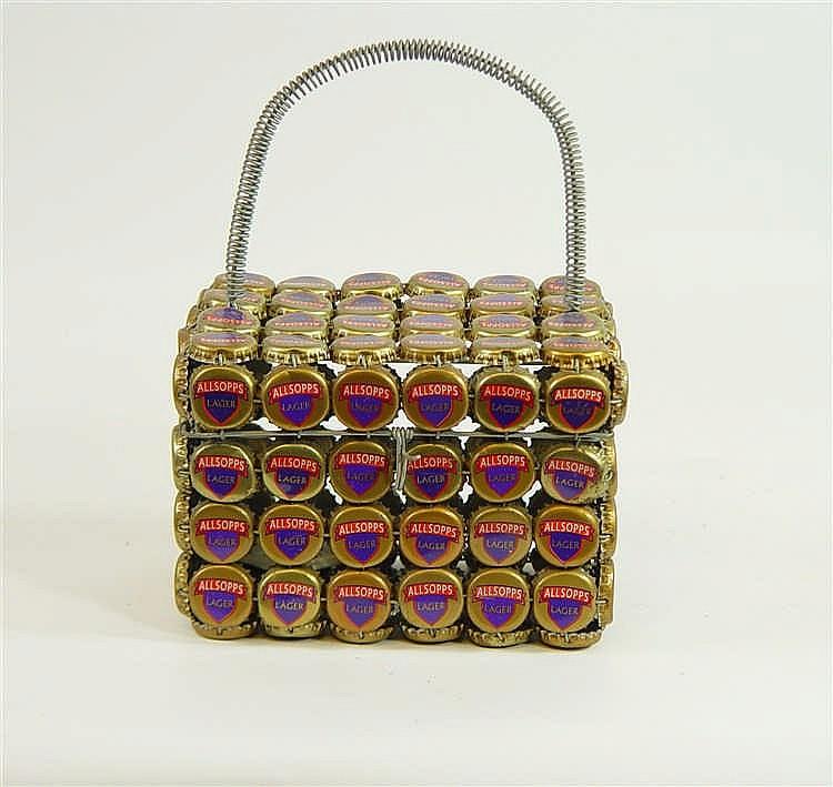 Sac en fils de fer et capsules « Lager » 11 x 18 cm
