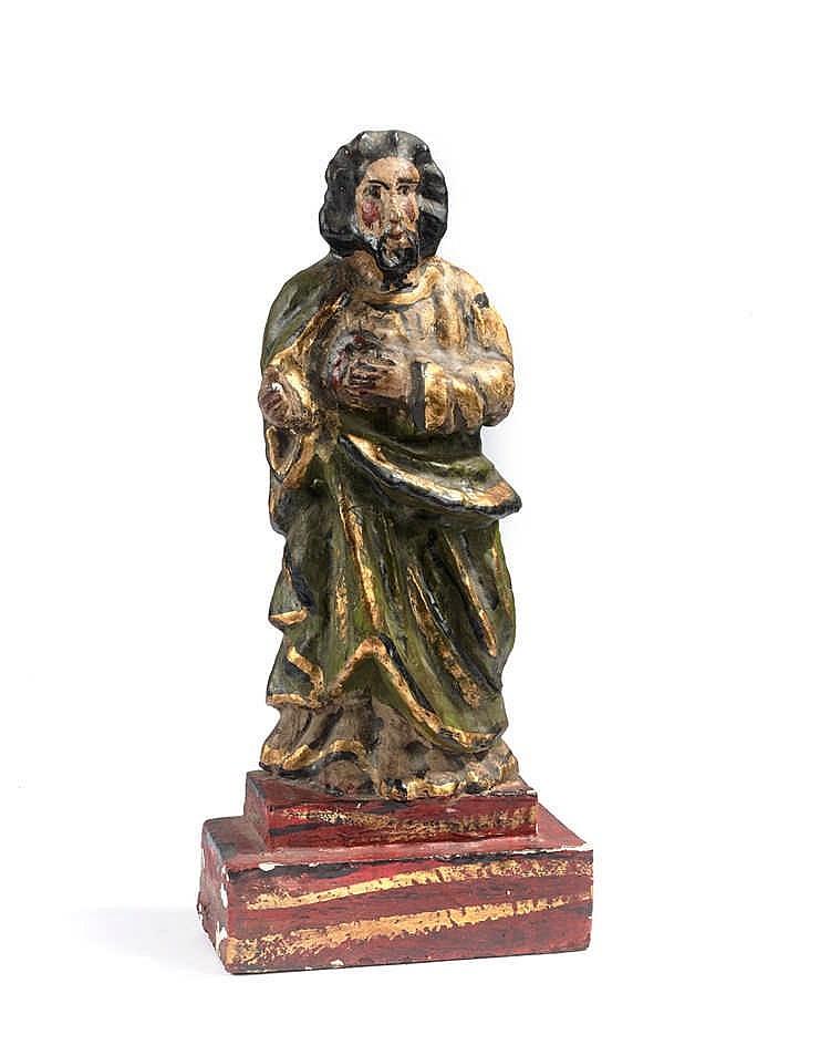Mexique Saint Homme en bois sculpté polychrome Hauteur : 36 cm