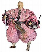 A paper-mache figure of a Japanese man