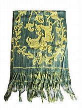 A Sumba cloth with lady and deer pattern  224 x 42 cm