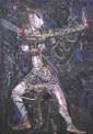 Suwaji (b. Yogyakarta, 1942) Penari Abstrak 1989