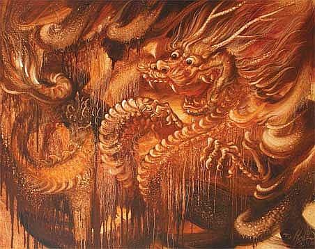 Mustika, I Dewa Made (b. Gianyar, Bali, 1974) Naga
