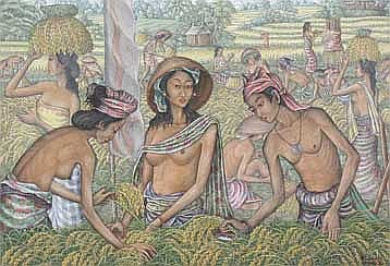 Pandhu, Ida Bagus Working on the ricefield