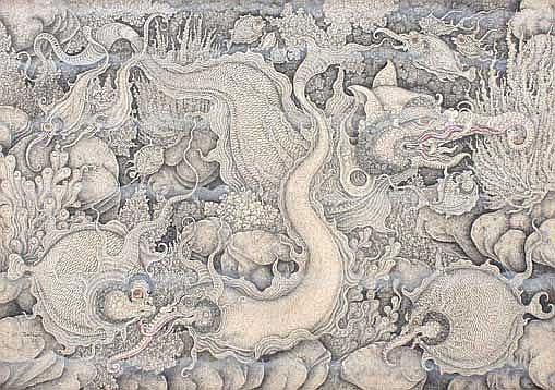 Hatha, I Ketut Ikan 1992 tempera on canvas 45 x 65