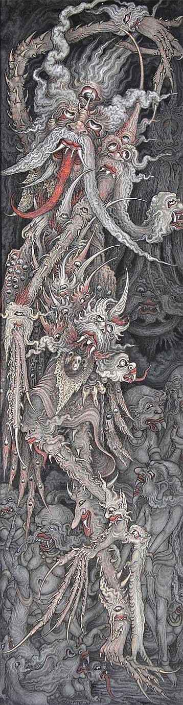Djumu, Wayan Mythological Creatures oil on canvas