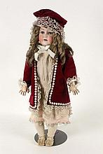 A CUNO & OTTO DRESSEL BISQUE HEADED DOLL
