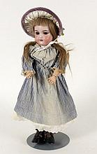 A HEINRICH HANDWERK BISQUE HEADED DOLL