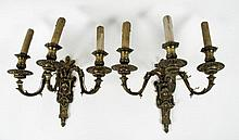 PAIR OF HISTORISM WALL SCONCE