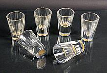 A SET OF 6 LIQUOR GLASSES