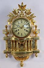 A CARTEL CLOCK IN LOUIS XVI STYLE