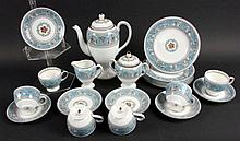 A WEDGWOOD FLORENTINE TURQUOISE COFFEE SERVICE