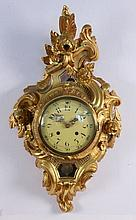 A CARTEL CLOCK IN BAROQUE STYLE