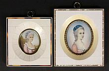 TWO IVORY MINIATURES