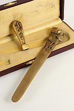 AN ART NOUVEAU LETTER OPENER AND SEAL