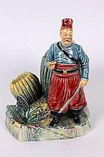 A TOBACCO BOX WITH TURKISH JANISSARY