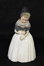 FIGURE OF A GIRL Royal Copenhagen Underglaze