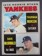 1970 Topps #189 Thurman Munson Rookie EX