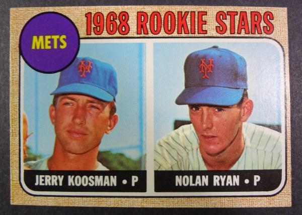 1968 Topps #177 NOLAN RYAN / Jerry Koosman ROOKIE