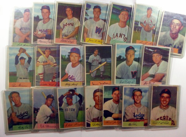 20  1954  Bowman baseball cards