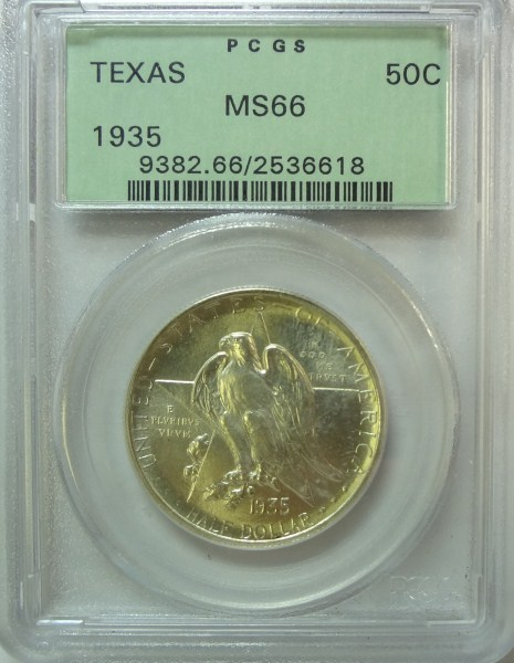1935 Texas PCGS66 ALL 35's are SCARCE Est $350-$375