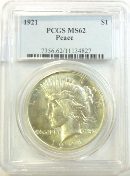 1921 Peace $ PCGS62