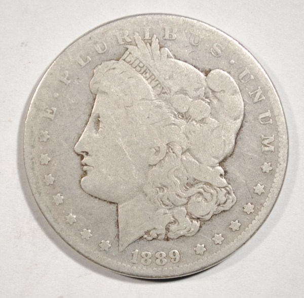 1889-CC MORGAN DOLLAR VG ORIGINAL