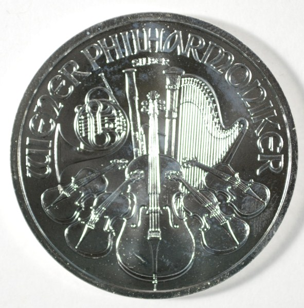 2012 PHILHARMONIC ONE OUNCE .999 SILVER COIN FROM AUSTRIA