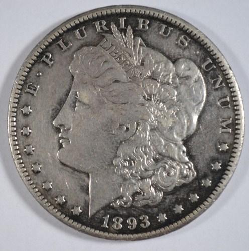 1893CC Morgan $ VF scratches reverse est $275-$300