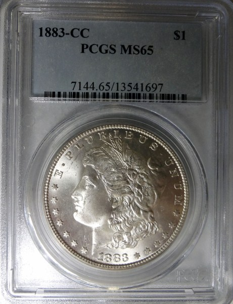 1883-CC MORGAN DOLLAR PCGS MS65 GEM!