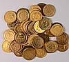 ( 50 ) PLATED INDIAN HEAD CENTS, VARIOUS DATES/CONDITIONS ( GOLD TONE )