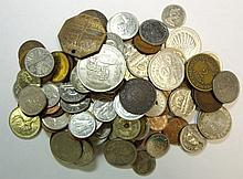 Foreign coin lot, 5 pounds of coins, approx 500 coins
