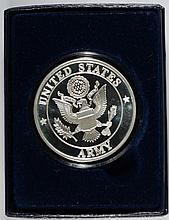 UNITED STATES ARMY ONE OUNCE .999 SILVER ART ROUND