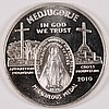 ONE OUNCE .999 SILVER ROUND FEATURING MEDJUGORIE 2010  VERY NICE!