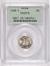 1940-S Mercury Dime PCGS MS 65 Full Bands, Green Label, Cherry