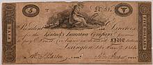 1814 $5 Kentucky Insurance Company Note F/VF