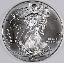 2013 AMERICAN SILVER EAGLE, GEM BU RIGHT OUT OF ORIGINAL MINT TUBE
