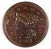 1851 LARGE CENT AU-58
