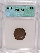 1871 INDIAN HEAD CENT ICG GOOD-4