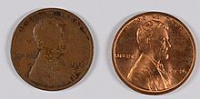(2) LINCOLN CENTS (11-D, 36)
