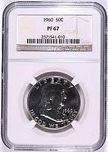 1960 FRANKLIN HALF DOLLAR, NGC PROOF-67