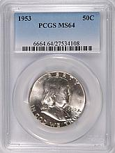 1953 FRANKLIN HALF DOLLAR, PCGS MS-64