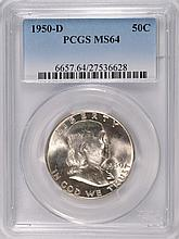 1950-D FRANKLIN HALF DOLLAR, PCGS MS-64