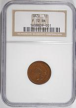 1870 INDIAN HEAD CENT NGC FINE-12 BN