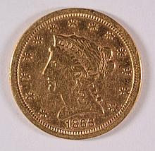 1866-S $2.5 GOLD LIBERTY XF/AU