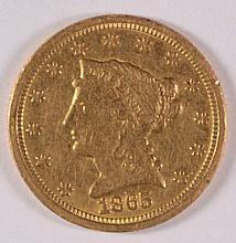 1865-S $2.5 GOLD LIBERTY AU