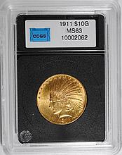 1911 $10.00 INDIAN GOLD CHOICE BU SCARCE
