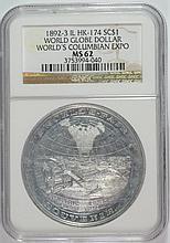 1892-3 WORLD GLOBE $ HK-174 NGC MS-62