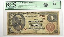 1882 $5 NATIONAL (COLUMBIA, MO) #1770 PCGS FINE-12 (ERIC P NEWMAN COLLECTION)