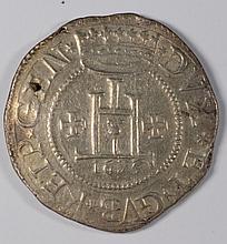 1625 ITALIAN STATES SCUDO AU SMALL HOLE